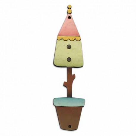 Botón de madera Casita de Pájaro.