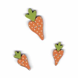 Botón de madera Zanahorias.