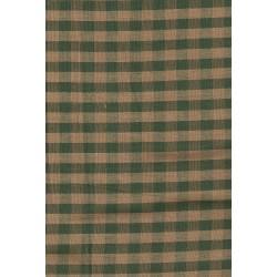 Tela Country para Patchwork verde de cuadros grande