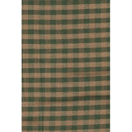 Tela Country para Patchwork verde de cuadros grande 10X10 mm