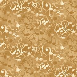 Tela música notas ocre