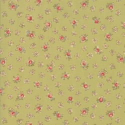 Tela Floral Dainty Buds Light Green