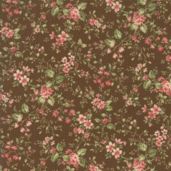 Tela Floral Floral Sprays Brown