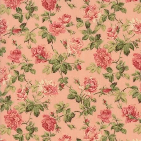 Tela Floral Roses Pink 33274 12