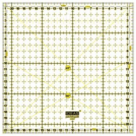 REGLA PATCHWORK CUADRADA 21.5x21.5 CM